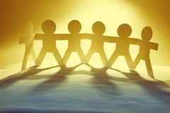 Paper chain team united Stock Images