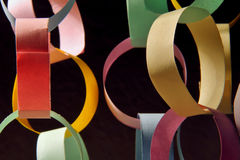 Paper chains. In pastel colors for decoration Royalty Free Stock Images