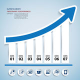 Paper chart and graph Infographics Royalty Free Stock Photos