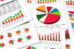 Paper charts, graphs and diagrams Stock Image