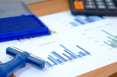 Paper charts and graphs Stock Photo