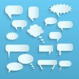 Paper Chat Bubbles Stock Photo