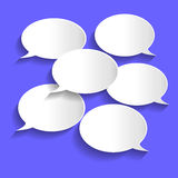 Paper Chat Bubbles Illustration Royalty Free Stock Image