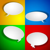 Paper chat elements Stock Photo