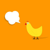 Paper chicken with speech bubble Stock Photo