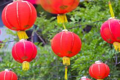 Paper Chinese lanterns on New Year eve Stock Image