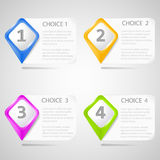 Paper choice pointers Royalty Free Stock Image