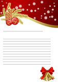 Paper for Christmas. Empty paper for Christmas greeting. Vector illustration Stock Photos