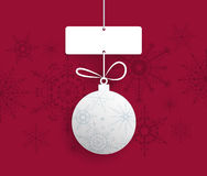 Paper Christmas ball with space for text-Christmas Greeting Card Stock Image