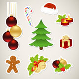 Paper christmas elements Stock Photography