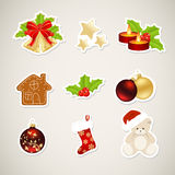 Paper christmas elements Stock Photos