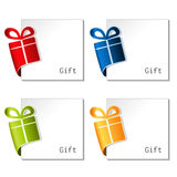 Paper Christmas gift, bent tape Royalty Free Stock Photography