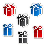 Paper Christmas gift, sticker Royalty Free Stock Photos