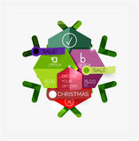 Paper Christmas Greeting Card Banners with text. Holiday geometric templates Royalty Free Stock Photo