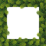 Paper for christmas list on a pine branches Stock Image