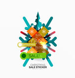 Paper Christmas and New Year banner. S with sparkles stock illustration