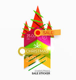 Paper Christmas and New Year banner Royalty Free Stock Images