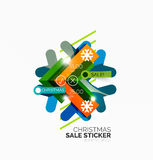 Paper Christmas and New Year banner Stock Image
