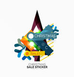 Paper Christmas and New Year banner Stock Images
