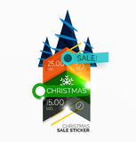 Paper Christmas and New Year banner. S with sparkles Royalty Free Stock Image