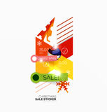 Paper Christmas and New Year banner Royalty Free Stock Photography