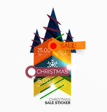 Paper Christmas and New Year banner Stock Photos