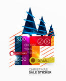 Paper Christmas and New Year banner Royalty Free Stock Photo