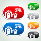 Paper Christmas offer, gift, sticker Royalty Free Stock Images