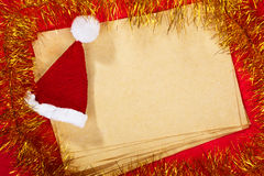 Paper and Christmas Ornaments Stock Photos