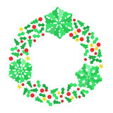 Paper Christmas Snowflake Wreath Stock Photo