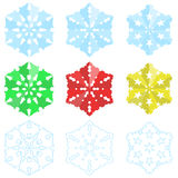 Paper Christmas Snowflakes Royalty Free Stock Photography
