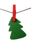 Paper Christmas tree Stock Photo