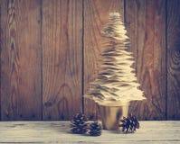 Paper Christmas tree/ Christmas Decoration. Stock Photos