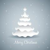 Paper Christmas Tree Royalty Free Stock Photos