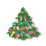 Paper Christmas tree, hand made. Royalty Free Stock Photos