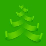 Paper Christmas Tree Royalty Free Stock Photography