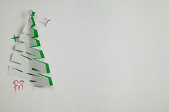 Paper Christmas tree Stock Image
