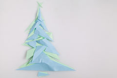 Paper Christmas tree Stock Photography