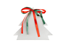 Paper christmas tree with ribbons Royalty Free Stock Photography