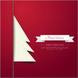 Paper Christmas tree on shadow background.Vector/Illustrator. Paper Christmas tree on shadow background.Vector/Illustrator royalty free illustration