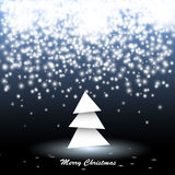 Paper Christmas Tree With Lights Royalty Free Stock Photos