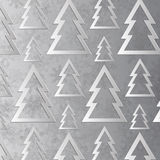 Paper Christmas trees Royalty Free Stock Image