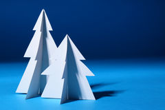 Paper Christmas trees Royalty Free Stock Photography