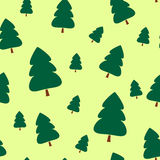 Paper Christmas trees. Seamless pattern. Christmas background. Christmas card. Happy New Year. Paper texture. Christmas origami. Christmas postcard. Vector Royalty Free Stock Photos
