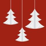 Paper christmas trees Stock Photos