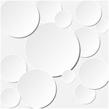 Paper circle banner with drop shadows. Flat designe. Vector illustration Royalty Free Stock Photography