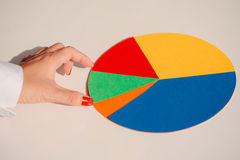 Paper circle graph Stock Image