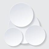 Paper circle infographic Stock Photos
