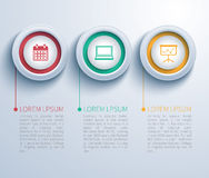 Paper circle  infographic Royalty Free Stock Photos