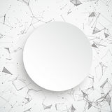 Paper Circle Network Connected Dots. Abstract background with connected dots and paper circle Royalty Free Stock Images